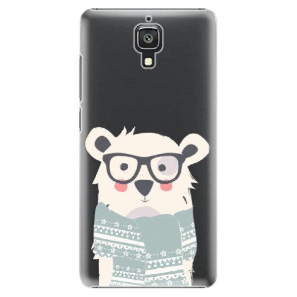 Plastové pouzdro iSaprio – Bear with Scarf – Xiaomi Mi4 Plastové pouzdro iSaprio – Bear with Scarf – Xiaomi Mi4