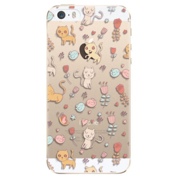 Plastové pouzdro iSaprio – Cat pattern 02 – iPhone 5/5S/SE Plastové pouzdro iSaprio – Cat pattern 02 – iPhone 5/5S/SE