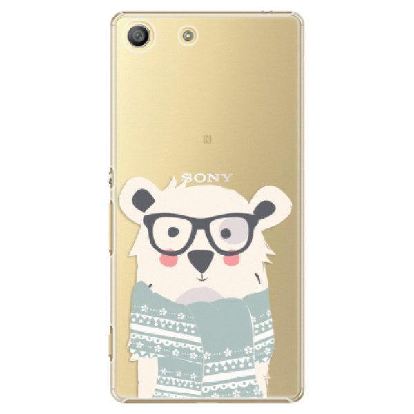 Plastové pouzdro iSaprio – Bear with Scarf – Sony Xperia M5 Plastové pouzdro iSaprio – Bear with Scarf – Sony Xperia M5