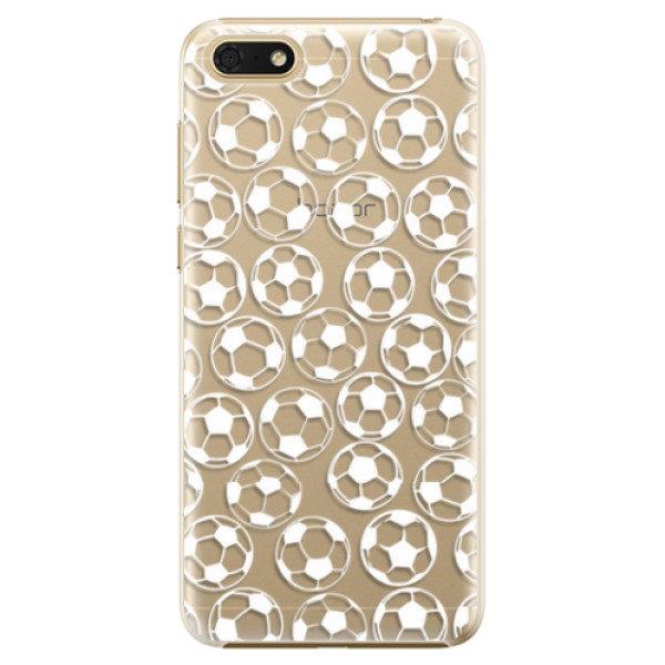 Plastové pouzdro iSaprio – Football pattern – white – Huawei Honor 7S Plastové pouzdro iSaprio – Football pattern – white – Huawei Honor 7S