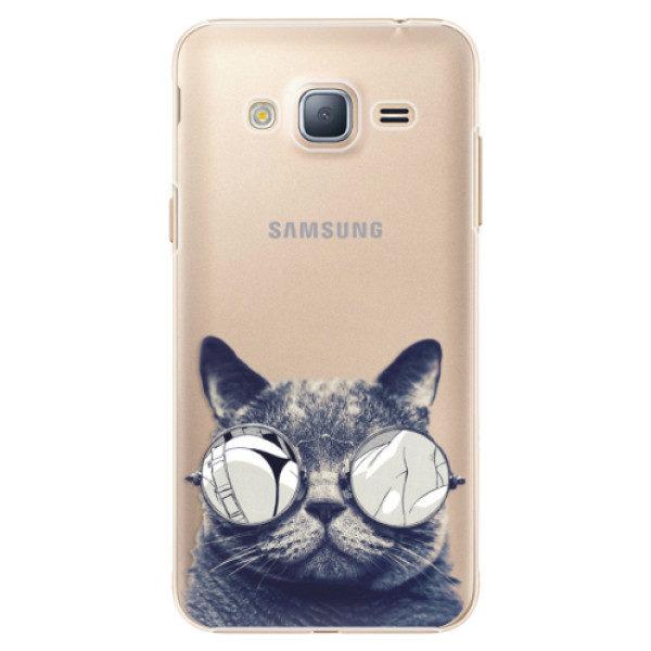 Plastové pouzdro iSaprio – Crazy Cat 01 – Samsung Galaxy J3 2016 Plastové pouzdro iSaprio – Crazy Cat 01 – Samsung Galaxy J3 2016