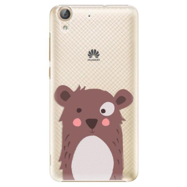 Plastové pouzdro iSaprio – Brown Bear – Huawei Y6 II Plastové pouzdro iSaprio – Brown Bear – Huawei Y6 II