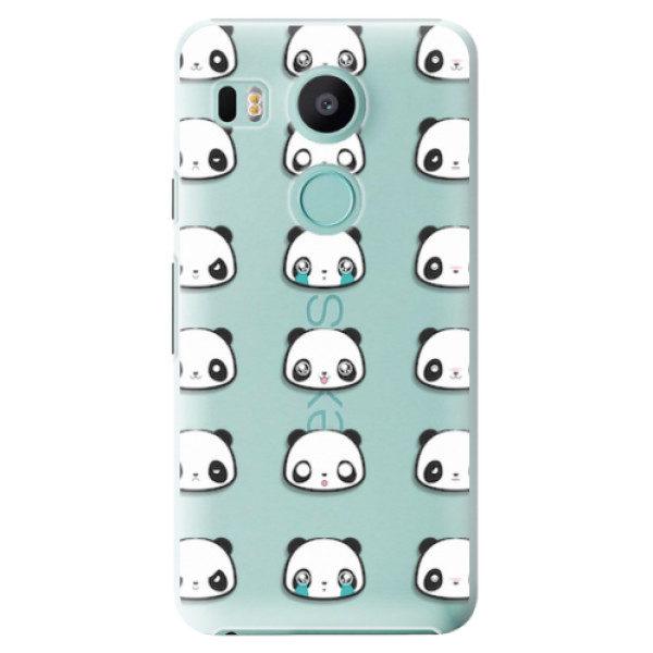 Plastové pouzdro iSaprio – Panda pattern 01 – LG Nexus 5X Plastové pouzdro iSaprio – Panda pattern 01 – LG Nexus 5X