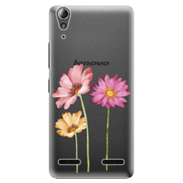 Plastové pouzdro iSaprio – Three Flowers – Lenovo A6000 / K3 Plastové pouzdro iSaprio – Three Flowers – Lenovo A6000 / K3