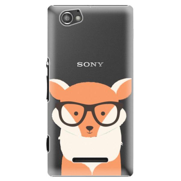 Plastové pouzdro iSaprio – Orange Fox – Sony Xperia M Plastové pouzdro iSaprio – Orange Fox – Sony Xperia M