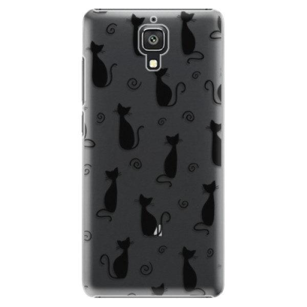 Plastové pouzdro iSaprio – Cat pattern 05 – black – Xiaomi Mi4 Plastové pouzdro iSaprio – Cat pattern 05 – black – Xiaomi Mi4