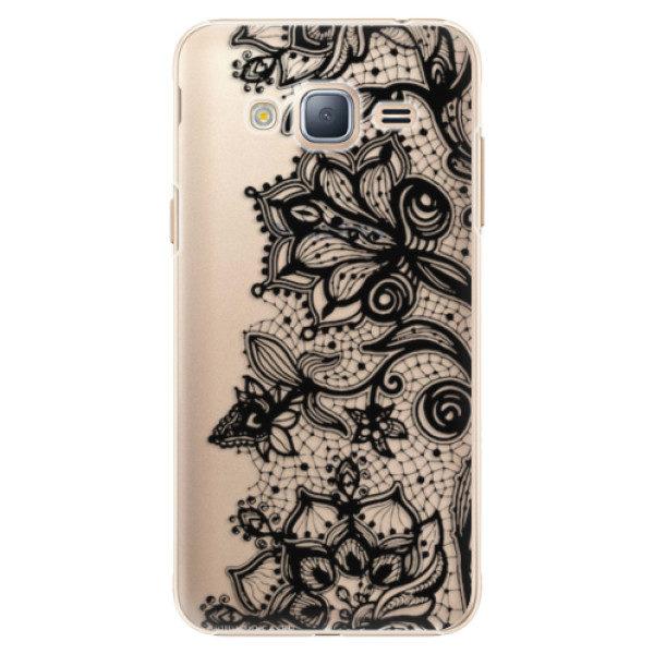 Plastové pouzdro iSaprio – Black Lace – Samsung Galaxy J3 2016 Plastové pouzdro iSaprio – Black Lace – Samsung Galaxy J3 2016