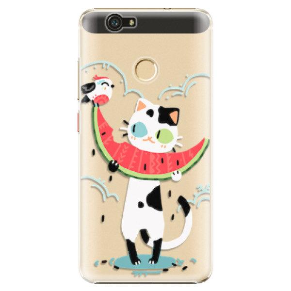 Plastové pouzdro iSaprio – Cat with melon – Huawei Nova Plastové pouzdro iSaprio – Cat with melon – Huawei Nova