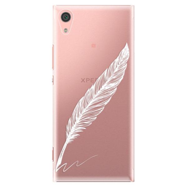 Plastové pouzdro iSaprio – Writing By Feather – white – Sony Xperia XA1 Plastové pouzdro iSaprio – Writing By Feather – white – Sony Xperia XA1