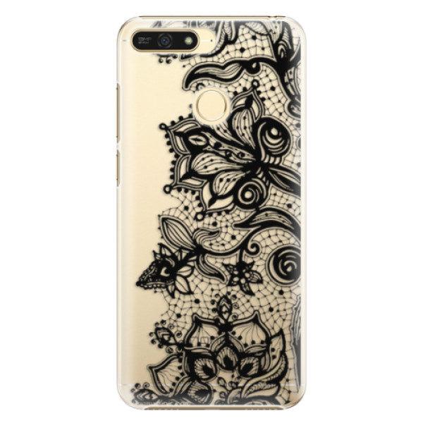 Plastové pouzdro iSaprio – Black Lace – Huawei Honor 7A Plastové pouzdro iSaprio – Black Lace – Huawei Honor 7A