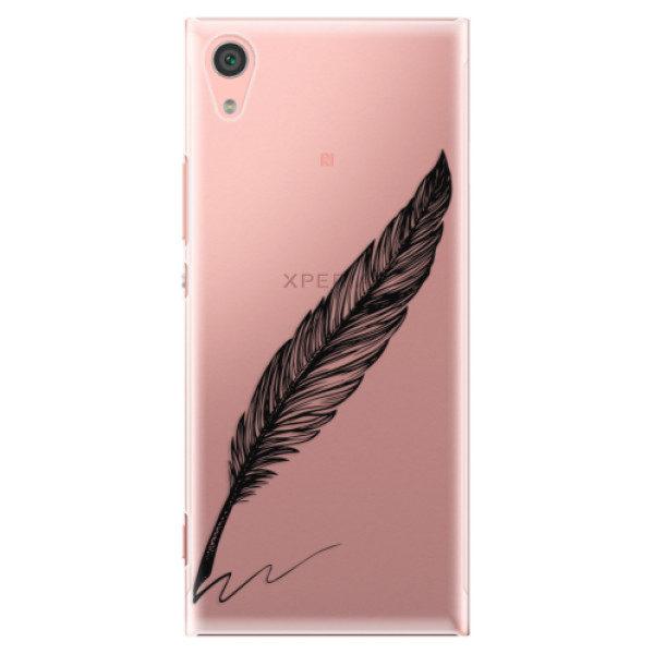 Plastové pouzdro iSaprio – Writing By Feather – black – Sony Xperia XA1 Plastové pouzdro iSaprio – Writing By Feather – black – Sony Xperia XA1