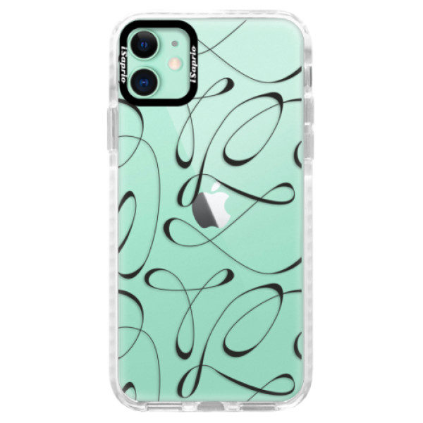 Silikonové pouzdro Bumper iSaprio – Fancy – black – iPhone 11 Silikonové pouzdro Bumper iSaprio – Fancy – black – iPhone 11
