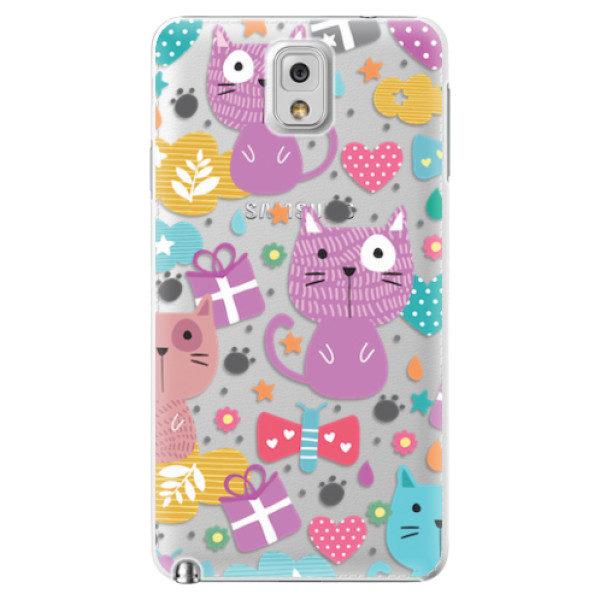 Plastové pouzdro iSaprio – Cat pattern 01 – Samsung Galaxy Note 3 Plastové pouzdro iSaprio – Cat pattern 01 – Samsung Galaxy Note 3