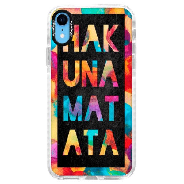 Silikonové pouzdro Bumper iSaprio – Hakuna Matata 01 – iPhone XR Silikonové pouzdro Bumper iSaprio – Hakuna Matata 01 – iPhone XR