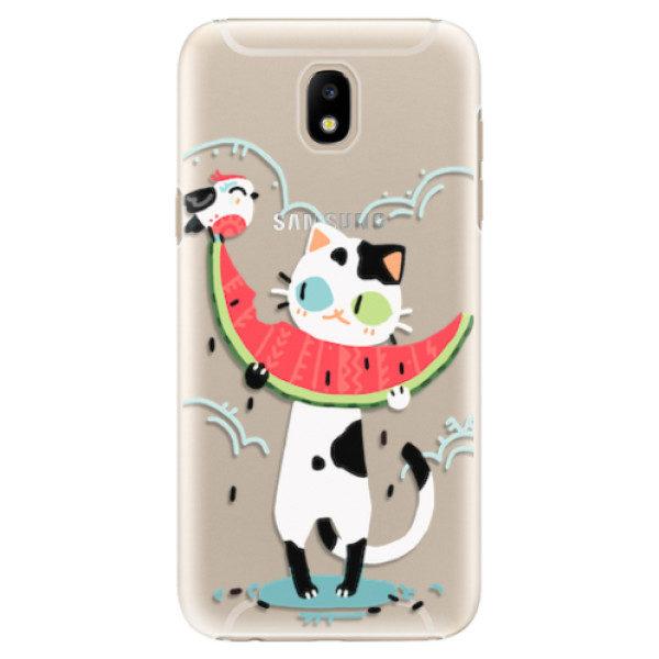 Plastové pouzdro iSaprio – Cat with melon – Samsung Galaxy J5 2017 Plastové pouzdro iSaprio – Cat with melon – Samsung Galaxy J5 2017