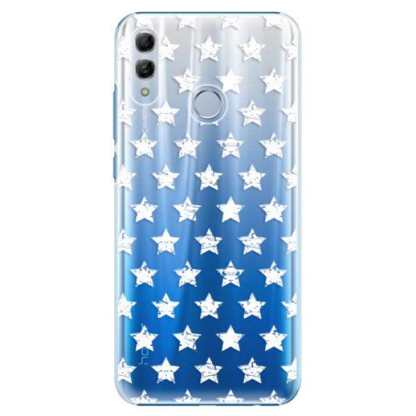 Plastové pouzdro iSaprio – Stars Pattern – white – Huawei Honor 10 Lite Plastové pouzdro iSaprio – Stars Pattern – white – Huawei Honor 10 Lite