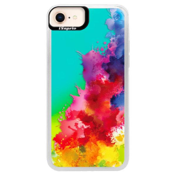 Neonové pouzdro Blue iSaprio – Color Splash 01 – iPhone 8 Neonové pouzdro Blue iSaprio – Color Splash 01 – iPhone 8