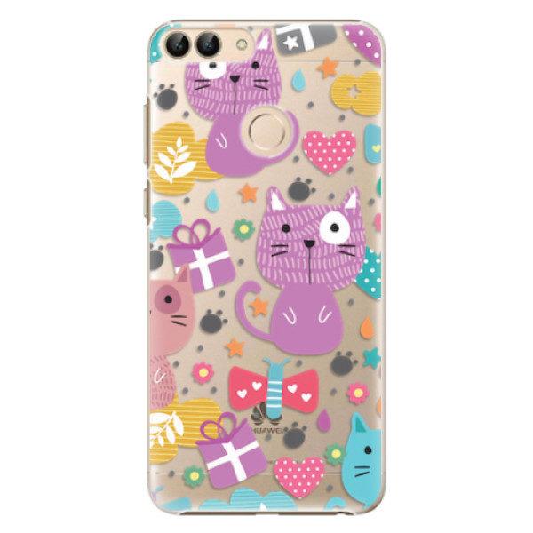 Plastové pouzdro iSaprio – Cat pattern 01 – Huawei P Smart Plastové pouzdro iSaprio – Cat pattern 01 – Huawei P Smart