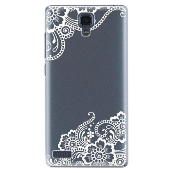 Plastové pouzdro iSaprio – White Lace 02 – Xiaomi Redmi Note Plastové pouzdro iSaprio – White Lace 02 – Xiaomi Redmi Note