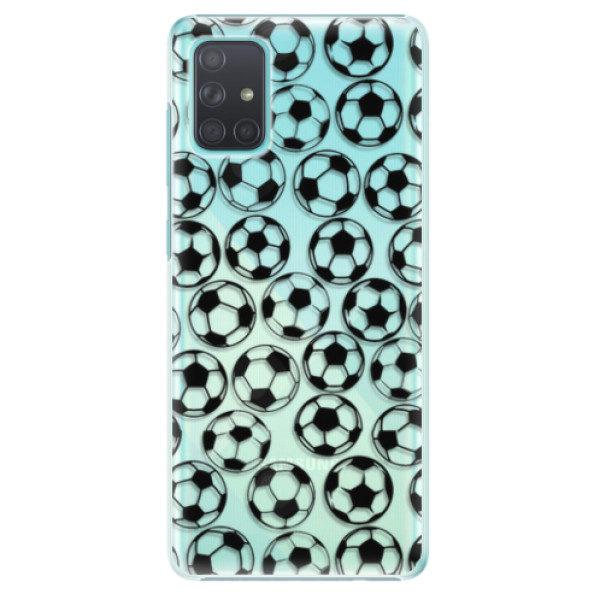Plastové pouzdro iSaprio – Football pattern – black – Samsung Galaxy A71 Plastové pouzdro iSaprio – Football pattern – black – Samsung Galaxy A71