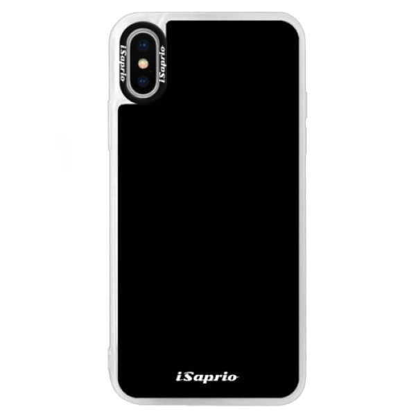 Neonové pouzdro Blue iSaprio – 4Pure – černý – iPhone XS Neonové pouzdro Blue iSaprio – 4Pure – černý – iPhone XS