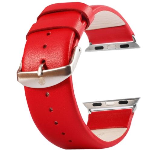 Kožený pásek / řemínek Kakapi pro Apple Watch 38mm červený Kožený pásek / řemínek Kakapi pro Apple Watch 38mm červený