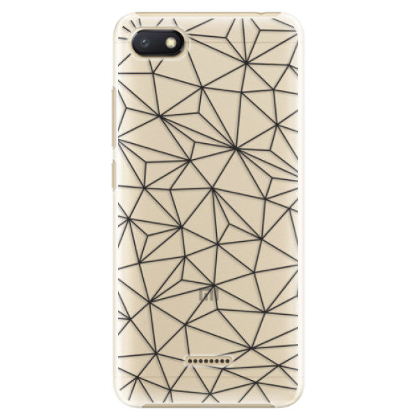 Plastové pouzdro iSaprio – Abstract Triangles 03 – black – Xiaomi Redmi 6A Plastové pouzdro iSaprio – Abstract Triangles 03 – black – Xiaomi Redmi 6A