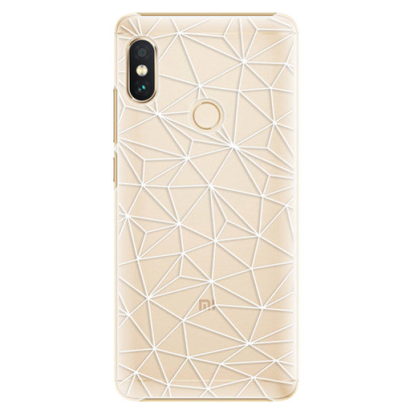 Plastové pouzdro iSaprio – Abstract Triangles 03 – white – Xiaomi Redmi Note 5 Plastové pouzdro iSaprio – Abstract Triangles 03 – white – Xiaomi Redmi Note 5