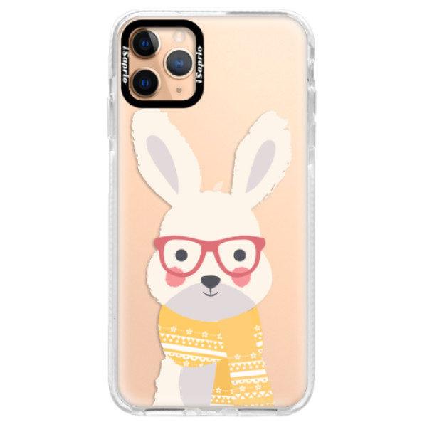 Silikonové pouzdro Bumper iSaprio – Smart Rabbit – iPhone 11 Pro Max Silikonové pouzdro Bumper iSaprio – Smart Rabbit – iPhone 11 Pro Max