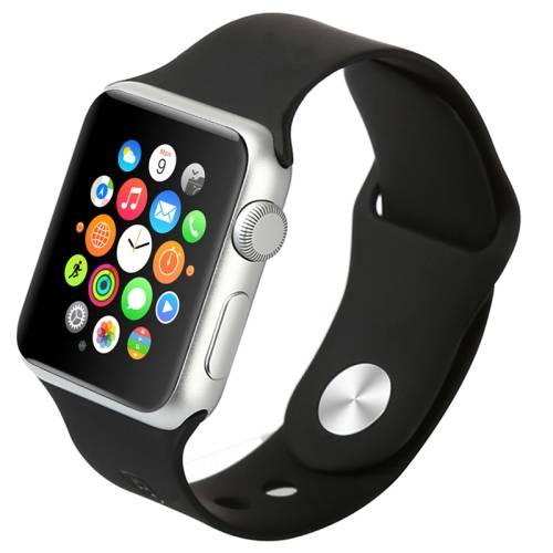 Gumový pásek / řemínek Baseus Fresh pro Apple Watch 38mm černý Gumový pásek / řemínek Baseus Fresh pro Apple Watch 38mm černý