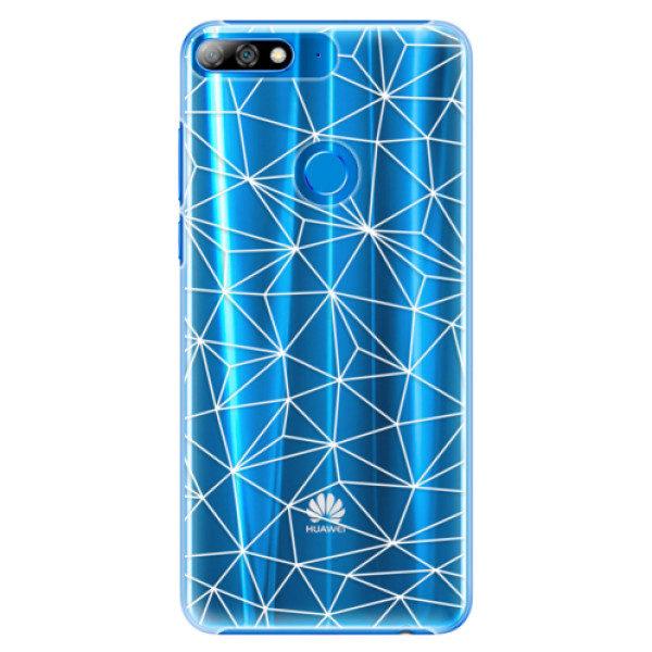 Plastové pouzdro iSaprio – Abstract Triangles 03 – white – Huawei Y7 Prime 2018 Plastové pouzdro iSaprio – Abstract Triangles 03 – white – Huawei Y7 Prime 2018