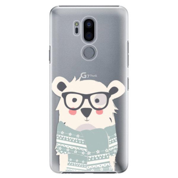 Plastové pouzdro iSaprio – Bear with Scarf – LG G7 Plastové pouzdro iSaprio – Bear with Scarf – LG G7