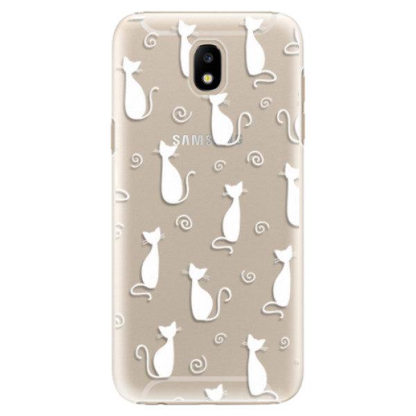 Plastové pouzdro iSaprio – Cat pattern 05 – white – Samsung Galaxy J5 2017 Plastové pouzdro iSaprio – Cat pattern 05 – white – Samsung Galaxy J5 2017