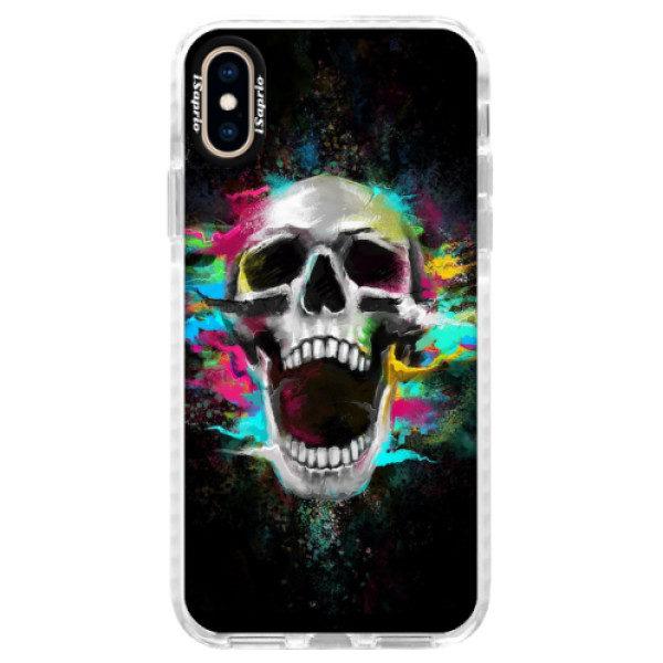 Silikonové pouzdro Bumper iSaprio – Skull in Colors – iPhone XS Silikonové pouzdro Bumper iSaprio – Skull in Colors – iPhone XS