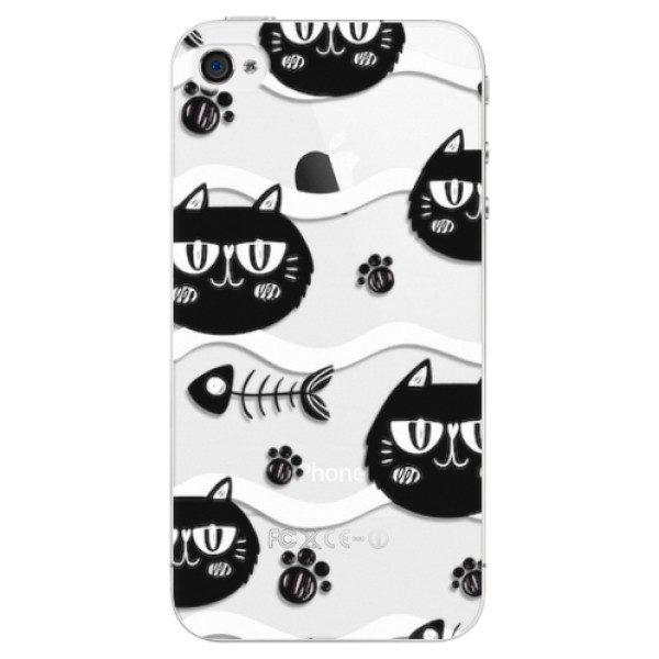 Plastové pouzdro iSaprio – Cat pattern 04 – iPhone 4/4S Plastové pouzdro iSaprio – Cat pattern 04 – iPhone 4/4S