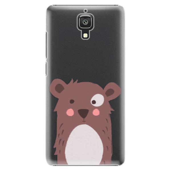 Plastové pouzdro iSaprio – Brown Bear – Xiaomi Mi4 Plastové pouzdro iSaprio – Brown Bear – Xiaomi Mi4