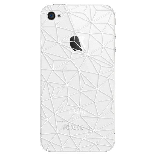 Plastové pouzdro iSaprio – Abstract Triangles 03 – white – iPhone 4/4S Plastové pouzdro iSaprio – Abstract Triangles 03 – white – iPhone 4/4S
