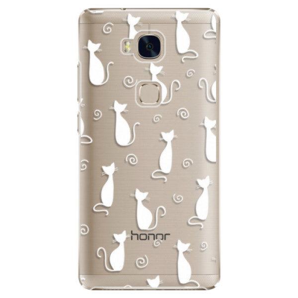 Plastové pouzdro iSaprio – Cat pattern 05 – white – Huawei Honor 5X Plastové pouzdro iSaprio – Cat pattern 05 – white – Huawei Honor 5X