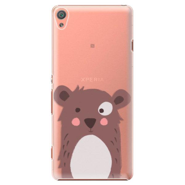Plastové pouzdro iSaprio – Brown Bear – Sony Xperia XA Plastové pouzdro iSaprio – Brown Bear – Sony Xperia XA
