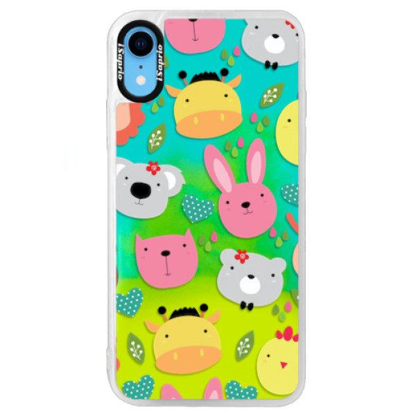 Neonové pouzdro Blue iSaprio – Animals 01 – iPhone XR Neonové pouzdro Blue iSaprio – Animals 01 – iPhone XR