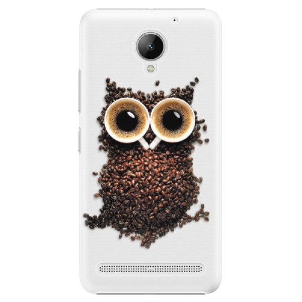 Plastové pouzdro iSaprio – Owl And Coffee – Lenovo C2 Plastové pouzdro iSaprio – Owl And Coffee – Lenovo C2