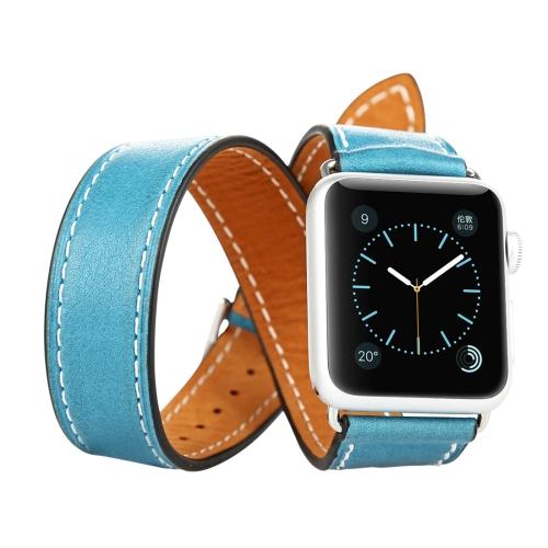 Kožený pásek / řemínek Baseus Sunlord pro Apple Watch 42mm modrý Kožený pásek / řemínek Baseus Sunlord pro Apple Watch 42mm modrý
