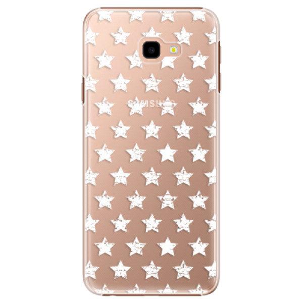 Plastové pouzdro iSaprio – Stars Pattern – white – Samsung Galaxy J4+ Plastové pouzdro iSaprio – Stars Pattern – white – Samsung Galaxy J4+