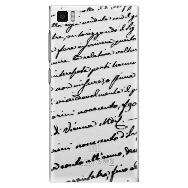 Plastové pouzdro iSaprio – Handwriting 01 – black – Xiaomi Mi3 Plastové pouzdro iSaprio – Handwriting 01 – black – Xiaomi Mi3