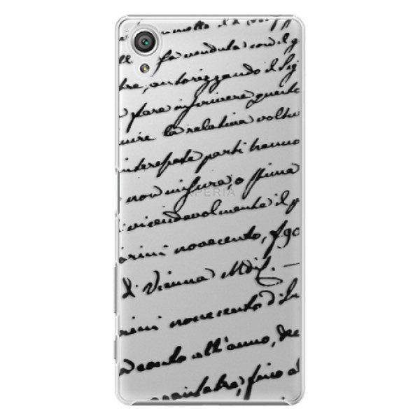 Plastové pouzdro iSaprio – Handwriting 01 – black – Sony Xperia X Plastové pouzdro iSaprio – Handwriting 01 – black – Sony Xperia X