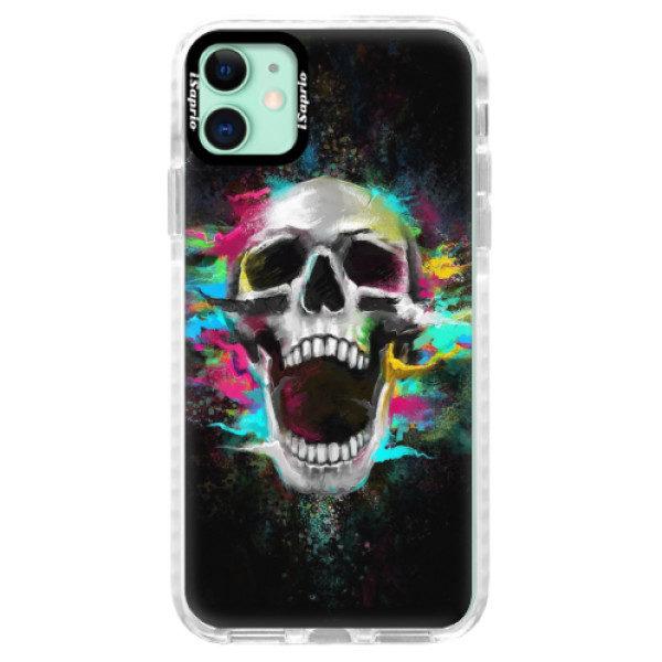 Silikonové pouzdro Bumper iSaprio – Skull in Colors – iPhone 11 Silikonové pouzdro Bumper iSaprio – Skull in Colors – iPhone 11
