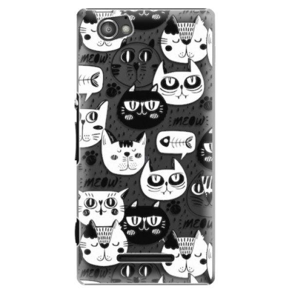 Plastové pouzdro iSaprio – Cat pattern 04 – Sony Xperia M Plastové pouzdro iSaprio – Cat pattern 04 – Sony Xperia M
