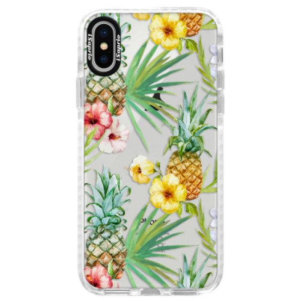Silikonové pouzdro Bumper iSaprio – Pineapple Pattern 02 – iPhone X Silikonové pouzdro Bumper iSaprio – Pineapple Pattern 02 – iPhone X
