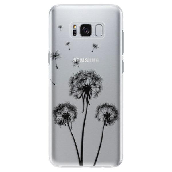 Plastové pouzdro iSaprio – Three Dandelions – black – Samsung Galaxy S8 Plus Plastové pouzdro iSaprio – Three Dandelions – black – Samsung Galaxy S8 Plus