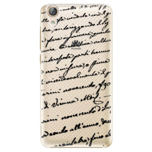Plastové pouzdro iSaprio – Handwriting 01 – black – Huawei Y6 II Plastové pouzdro iSaprio – Handwriting 01 – black – Huawei Y6 II